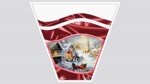 CORNICE NATALIZIA ROSSA (Božični okvir crveni) - 1kg