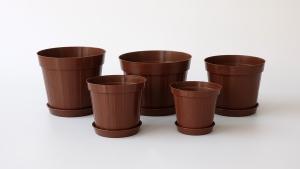 Vaza smeđa + podmetač - Pakiranje od 10 komada