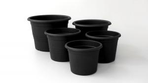 Vaza crna s rubom - Pakiranje od 10 komada