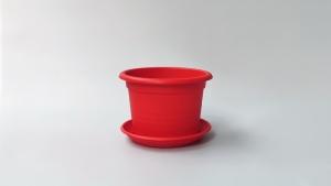 Vaza u boji + podmetač 18 cm